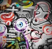 Graffiti background. Graffiti grunge background, eps 10 Stock Photo