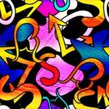 Graffiti Background Seamless texture vector royalty free stock illustration Stock Photos