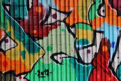 Graffiti background (street art) Royalty Free Stock Photo