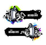 Graffiti banners Royalty Free Stock Image