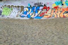 Graffiti on Beach Royalty Free Stock Photos