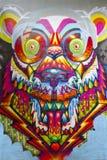 Graffiti beast tower berlin Royalty Free Stock Image