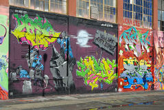 Graffiti bei fünf Pointz Stockfoto