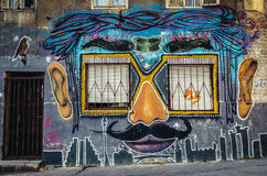 Graffiti a Belgrado Fotografie Stock