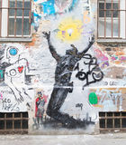 Graffiti in Berlijn Royalty-vrije Stock Afbeelding