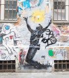 Graffiti in Berlin lizenzfreies stockbild