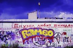 Graffiti on Berlin Wall Stock Photos