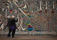 Graffiti on Berlin wall at Mühlenstraße Royalty Free Stock Photography