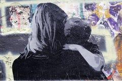 Graffiti a Berlino, Germania Fotografia Stock Libera da Diritti