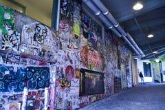 Graffiti bij Poststeeg, Seattle, Washington Stock Afbeelding