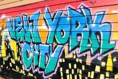 Graffiti bij Vijf Pointz Stock Foto
