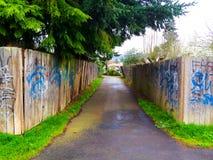 Graffiti Bike Path Fench Stock Images