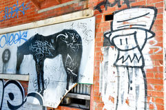 Graffiti-Bilder: Fremantle, West-Australien Lizenzfreies Stockfoto