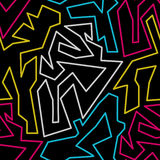 Graffiti on a black background abstract color seamless pattern grunge texture. Vector eps 10 stock illustration