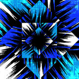 Graffiti blue on a black background vector illustration Royalty Free Stock Photography