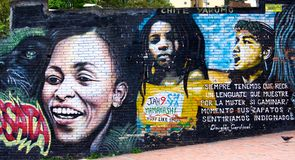 Graffiti in Bogota Kolumbien Lizenzfreies Stockfoto