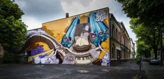 Graffiti in Bonn, Deutschland Stockfotografie