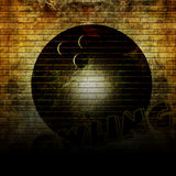 Graffiti bowling ball Stock Photo
