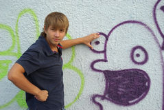 Graffiti boy Royalty Free Stock Photography