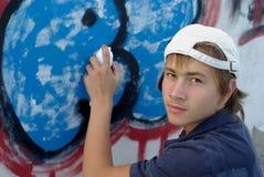 Graffiti boy Royalty Free Stock Photo