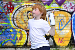 Graffiti boy Stock Image