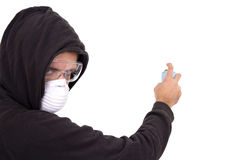 Graffiti boy painting Stock Photo