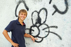 Graffiti boy Stock Photography