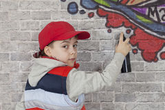 Graffiti boy Stock Images