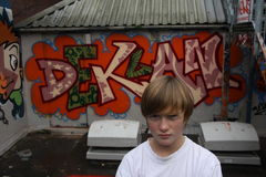 Graffiti Boy Royalty Free Stock Images