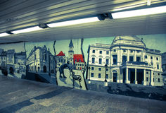 Graffiti in the Bratislava, Slovakia Royalty Free Stock Images
