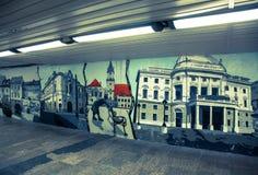 Graffiti in Bratislava, Slowakije Royalty-vrije Stock Afbeeldingen