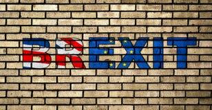 Graffiti BREXIT sur le mur de briques illustration libre de droits
