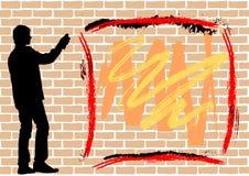 Graffiti on brick Stock Photography
