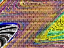 Graffiti on Brick Pattern Stock Photo