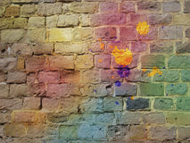 The graffiti brick wall Royalty Free Stock Photo