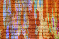 Graffiti brick wall, colorful painted background. Stock Images