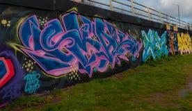 Graffiti in Bristol in England stock photo