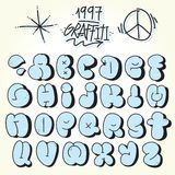 Graffiti bubble vector font. Set Stock Images