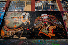 Graffiti building art in Brooklyn Stock Photo