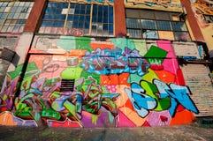 Graffiti building art in Brooklyn Stock Images