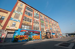 Graffiti building art in New York Stock Images