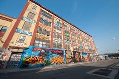 Graffiti building art in New York stock images