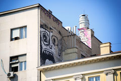 Graffiti on a building Royalty Free Stock Photo