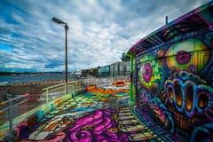 Graffiti on a building in Slussen, Södermalm, Stockholm, Sweden Royalty Free Stock Images