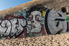 Graffiti on the bunker Royalty Free Stock Photo