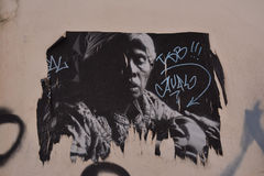 Graffiti à Cagliari, en Sardaigne Photos stock
