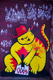 Graffiti cartoon cat Royalty Free Stock Photos