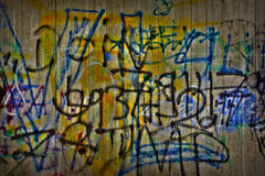 Graffiti on cement wall Royalty Free Stock Images