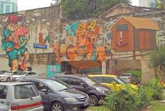Graffiti in the center of Kuala Lumpur Royalty Free Stock Photo