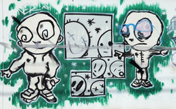 Graffiti characters Stock Photos